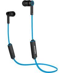 audifonos bluetooth, auricular sin hilos de los auriculares del deporte de audifonos bluetooth manos libres  de los obees auricular sin hilos sin hilos de la música de hifi del auricular con el micrófono para el teléfono (azul)