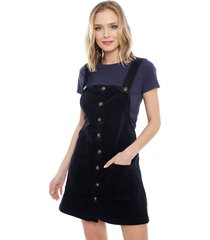 vestido jacqueline de yong era overall dress azul - calce regular
