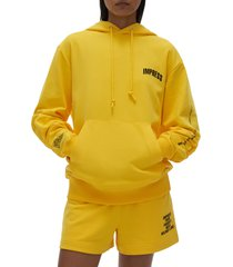women's helmut lang impress hoodie, size x-large - yellow