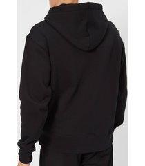 acne studios men's face logo hooded sweatshirt - black - l - black