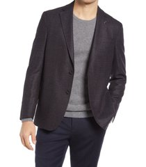 men's ted baker london kyle melange wool sport coat, size 46 regular - brown