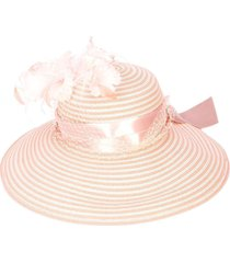 pink tropical vine hat