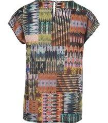 shirtblouse met verbrede schouders van peter hahn multicolour