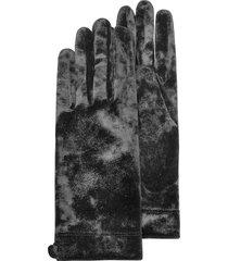 forzieri designer women's gloves, women's black chenille gloves