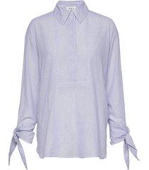 day palazzo blouse lange mouwen blauw day birger et mikkelsen