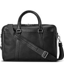 men's shinola double-zip leather briefcase - black