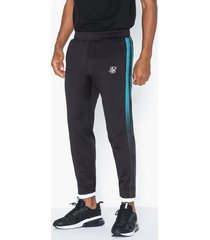 siksilk fitted tape track pants byxor black