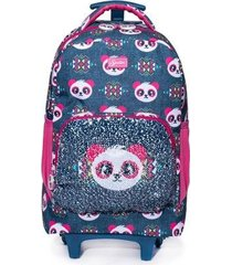 mochila spector de rodinha panda infantil