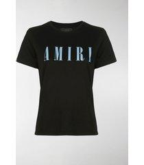 amiri boxy fit logo print t-shirt