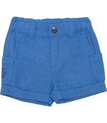 bermuda con bolsillos azul  pillin