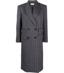 alexander mcqueen vertical-striped double-breasted coat