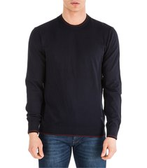 emporio armani crew neck neckline jumper sweater pullover regular fit