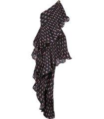 asymmetric hybrid flamenco dress