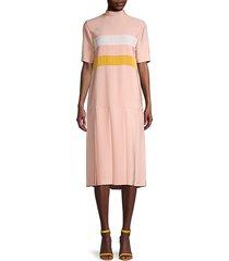 mockneck drop-waist dress