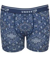 cueca under up boxer hi-tech kids bandana - azul - menino - poliamida - dafiti