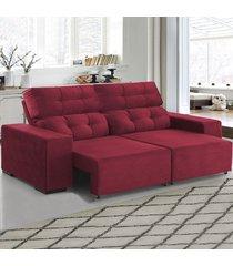 sofá 4 lugares retrátil e reclinável living marsala - viero móveis