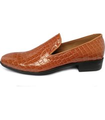 zapatos loafer charol para hombre alligator outfit miel