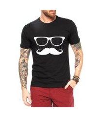 camiseta criativa urbana mustache engraçadas divertidas