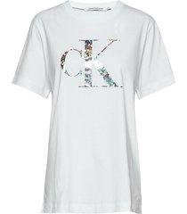 plus iridescent metallic tee t-shirts & tops short-sleeved vit calvin klein jeans
