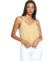 blusa amarillo-blanco active