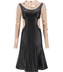 marine serre half moon leather dress