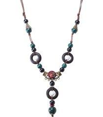 etnici fatti a mano tibet perline di ceramica collana gioielli vintage nappa lunga collane regalo per lei