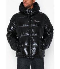 champion reverse weave hooded jacket jackor black