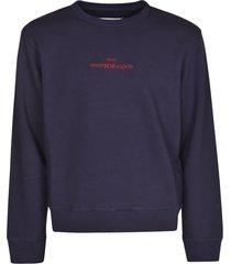 maison margiela chest logo ribbed sweatshirt