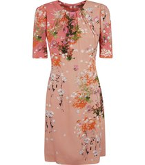 givenchy mid-length floral print dress