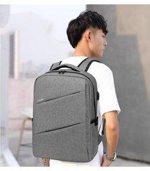 mochila para hombre, augur nueva oxford mochila para portátil-gris
