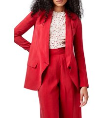 smythe shawl collar long blazer, size 10 in red at nordstrom