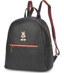 mini mochila luxcel mickey 78458 preta