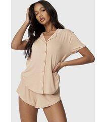 conjunto pijama missguided camel - calce regular
