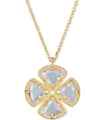 """amethyst clover pendant necklace (3-5/8 ct. t.w.) in 18k rose gold plated sterling silver, 16"""" + 1"""""""