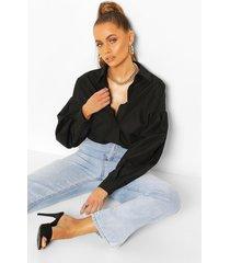 oversized blouse, zwart