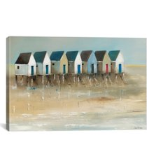 "icanvas beach cabins i by jean jauneau wrapped canvas print - 40"" x 60"""
