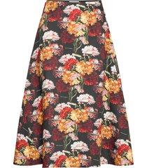 flowers skirt knälång kjol multi/mönstrad makia