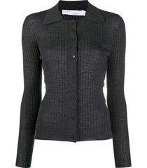 iro spread-collar cardigan - grey