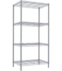 home basics 4 tier steel wire shelf