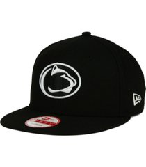 new era penn state nittany lions ncaa black white fashion 9fifty snapback cap