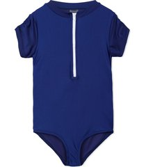duskii girl mia short sleeve swimsuit - blue