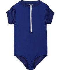 duskii girl mia short sleeve swimsuit - blue