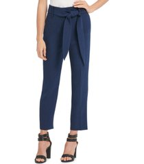 dkny tie-waist high-rise pants