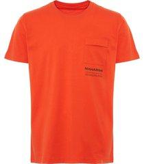maharishi orange miltype pocket tee 8925