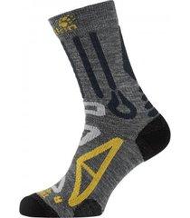 jack wolfskin sokken unisex trekking pro classic cut dark grey