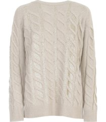 blumarine braided sweater l/s crew neck