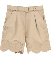 self-portrait embroidered shorts