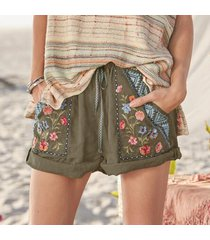 driftwood women's trevor bloom shorts by sundance in green xs