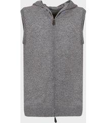 sartorio napoli hooded cashmere sleeveless sweater