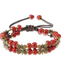 braccialetto etnico delle donne braccialetto di corda
